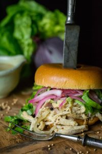 Instant Pot Dijon Pulled Chicken