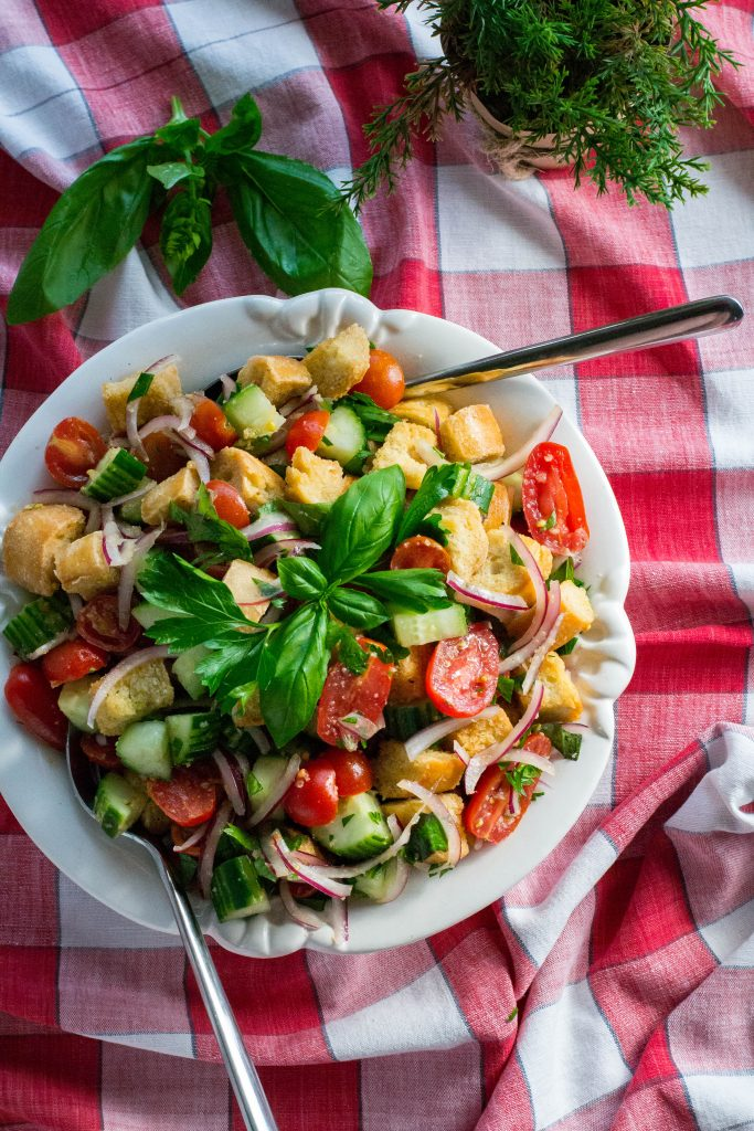 Summer's End Panzanella Salad