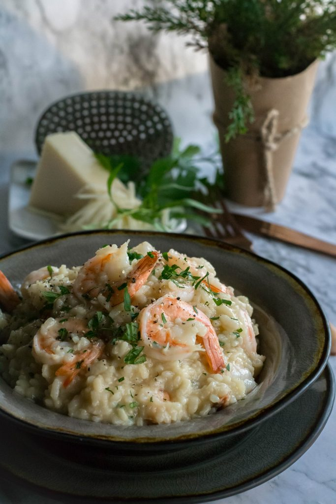 Instant Pot Asiago Shrimp Risotto