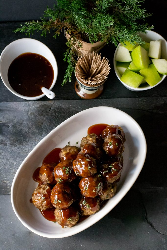 Apple Cider Glazed Meatballs