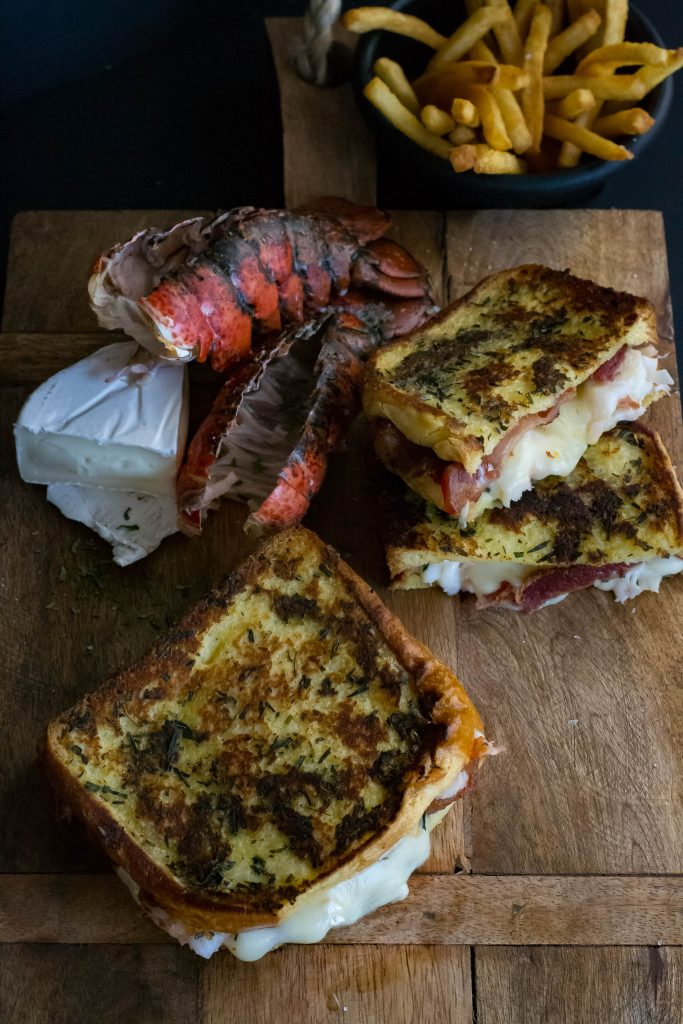 Bacon Lobster Grilled Cheese