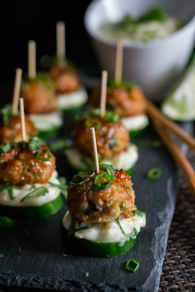 Pacific Rim Chicken Meatballs