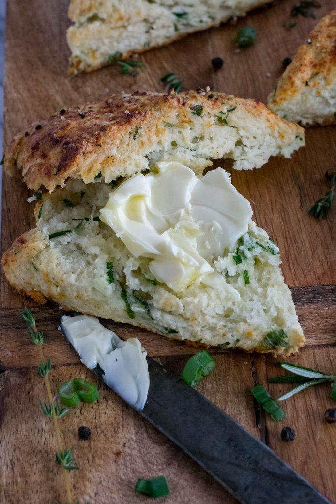Savory Spinach Ricotta Scones