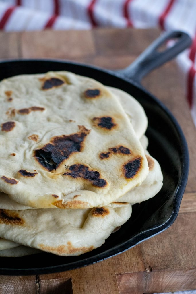 Cast Iron Naan Bread