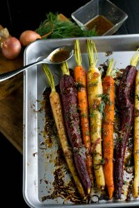 Maple Dijon Dill Roasted Carrots