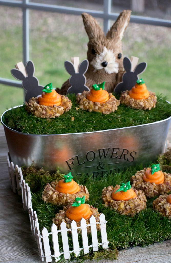 Carrot Cake Thumbprint Cookies