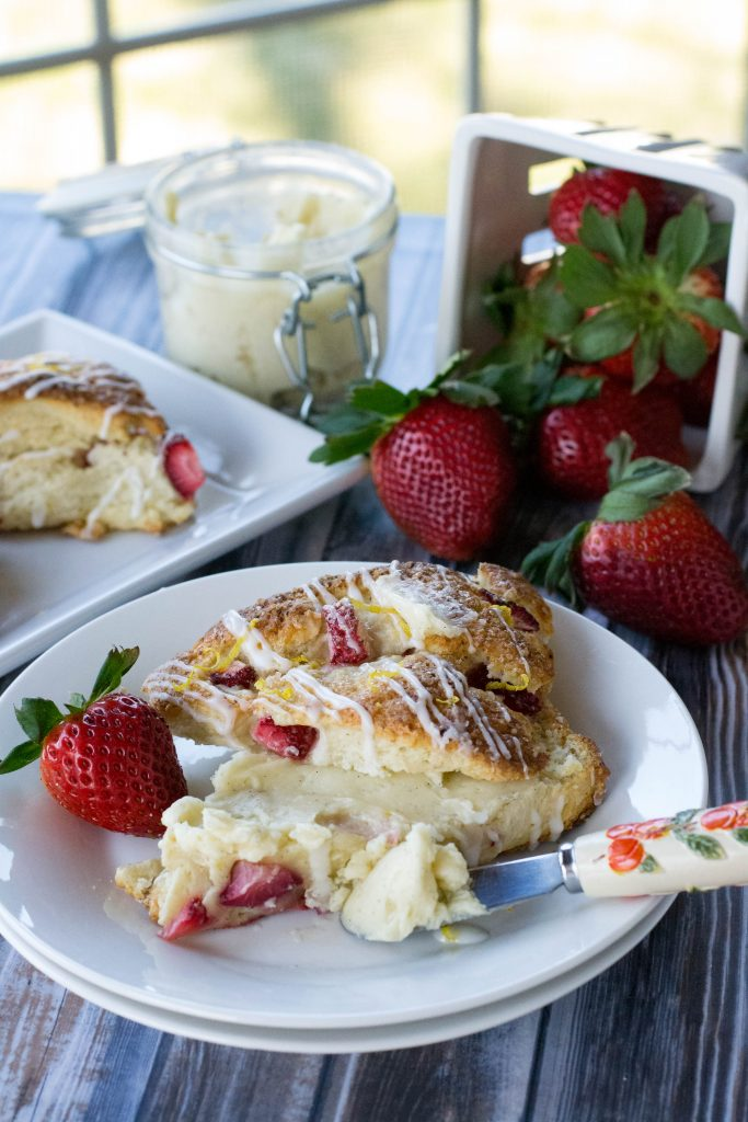 Fresh Strawberry Ricotta Scones-7