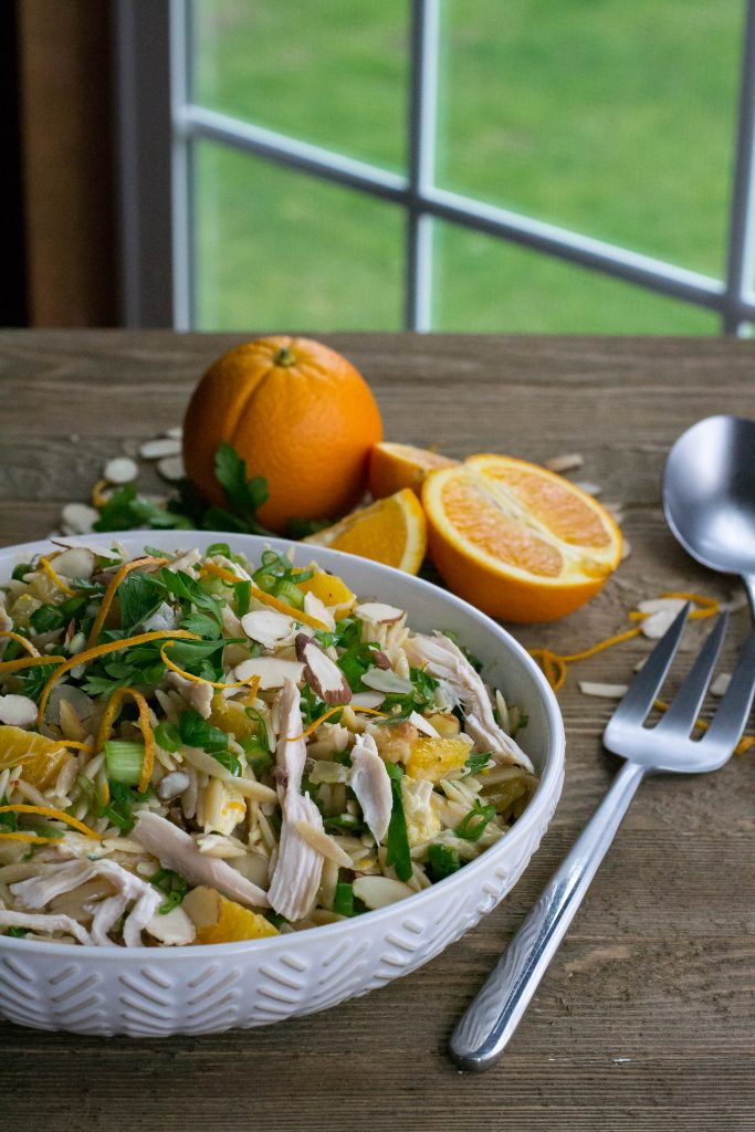 Orange Chicken Orzo Salad