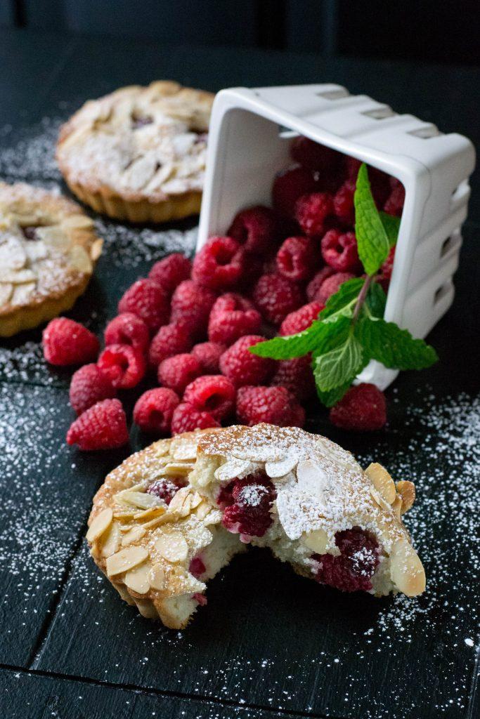 Raspberry Almond Mini Cakes