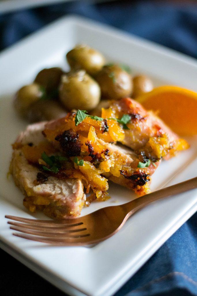 Roasted Honey Orange Pork Tenderloin