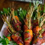 Spicy Brown Sugar Bacon Wrapped Carrots