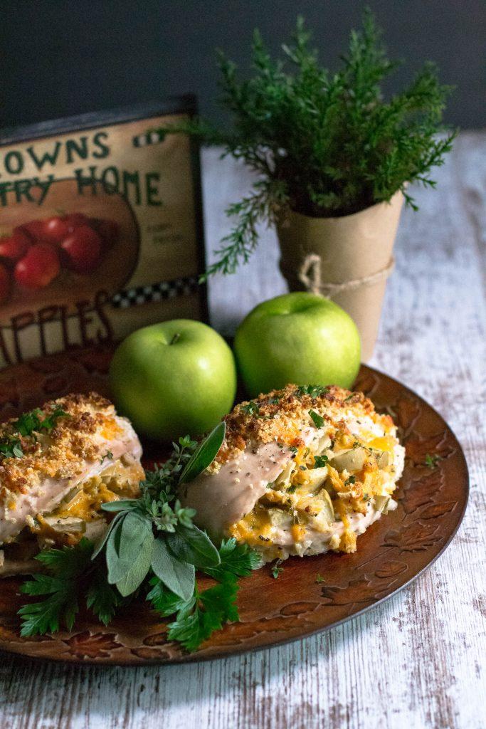 Apple Cheddar Stuffed Chicken Breast