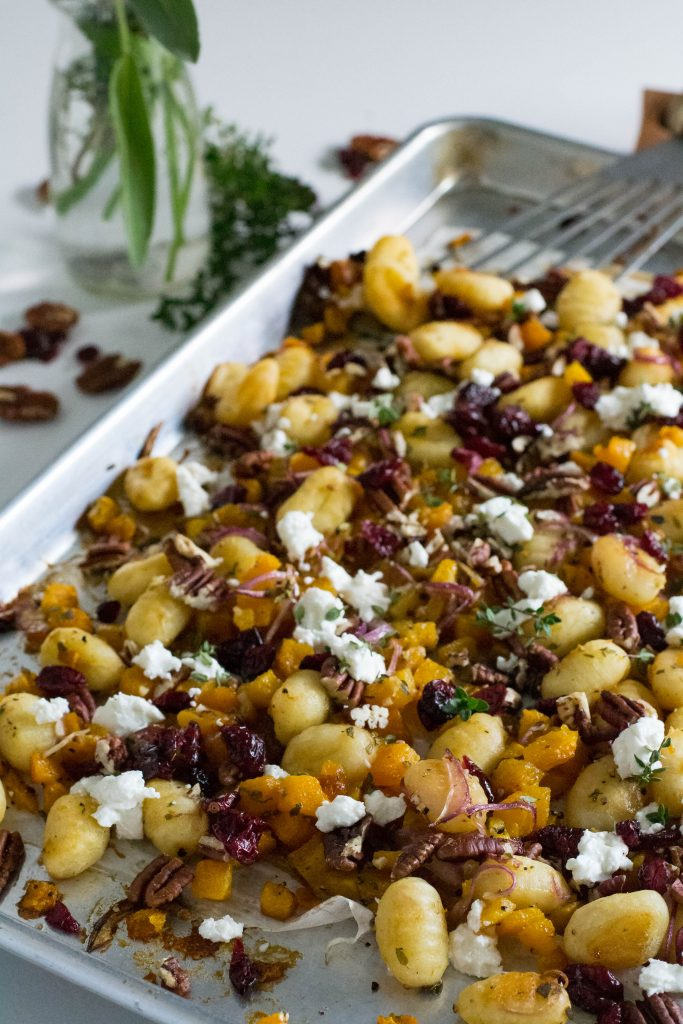 Sheet Pan Roasted Gnocchi Butternut Squash