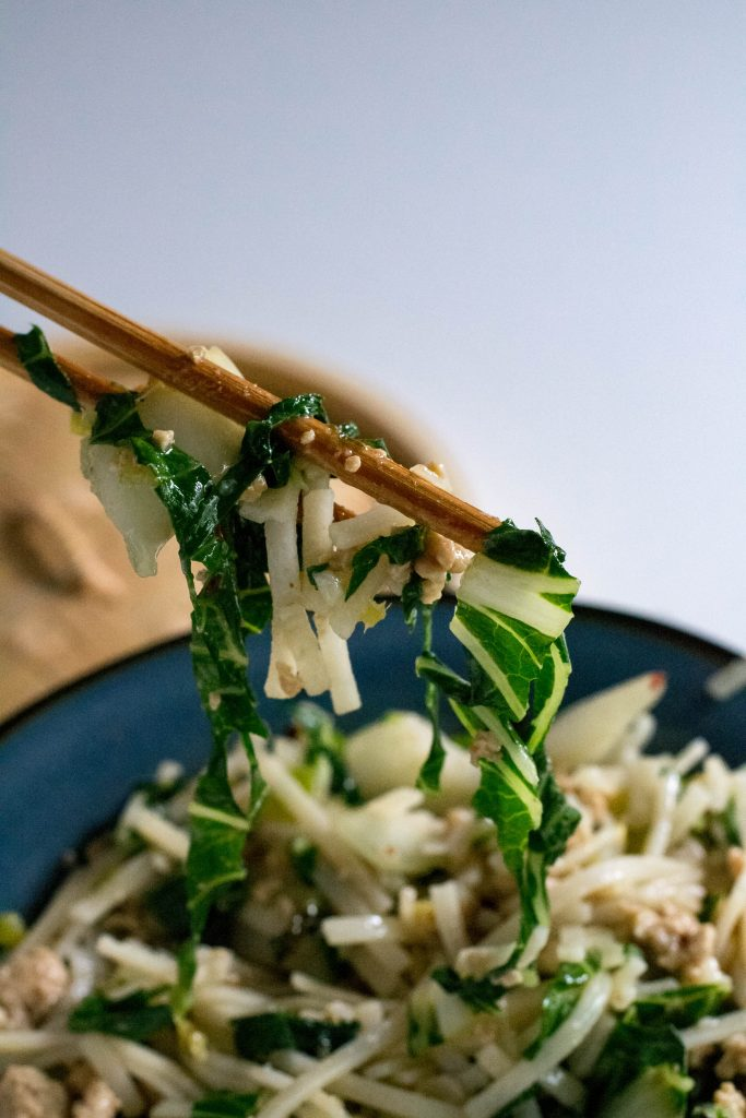 Spicy Chicken Noodle Stir Fry