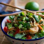 Edamame Spaghetti with Shrimp