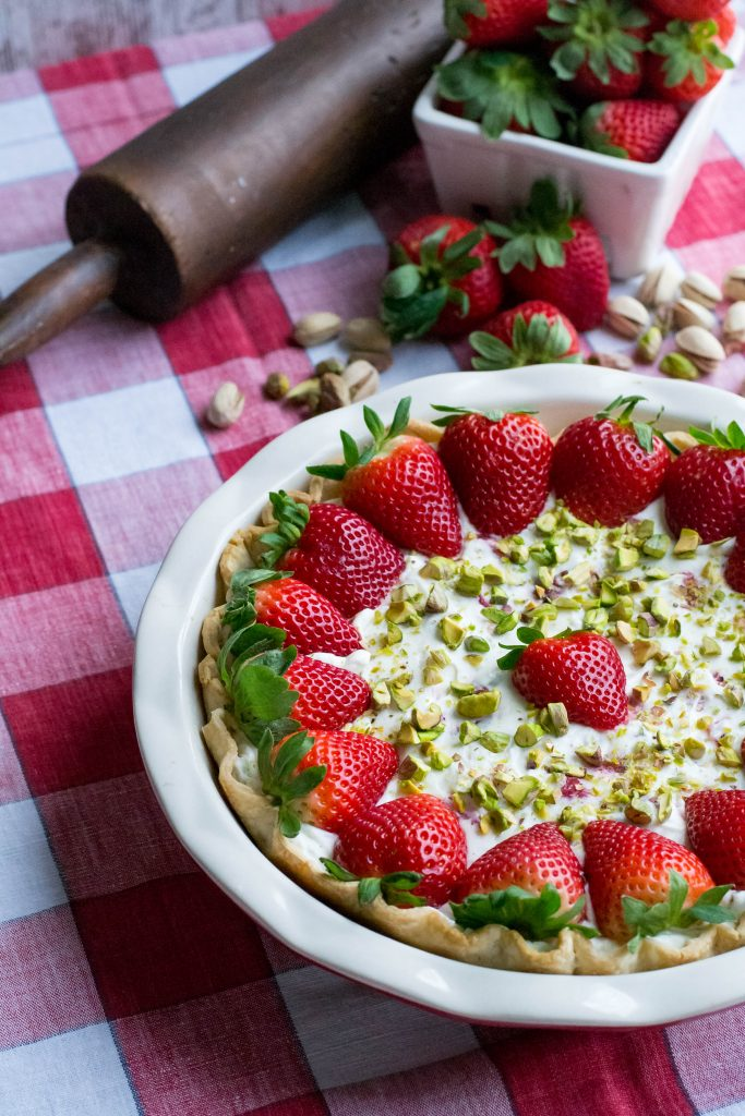Strawberry Pistachio Cream Pie