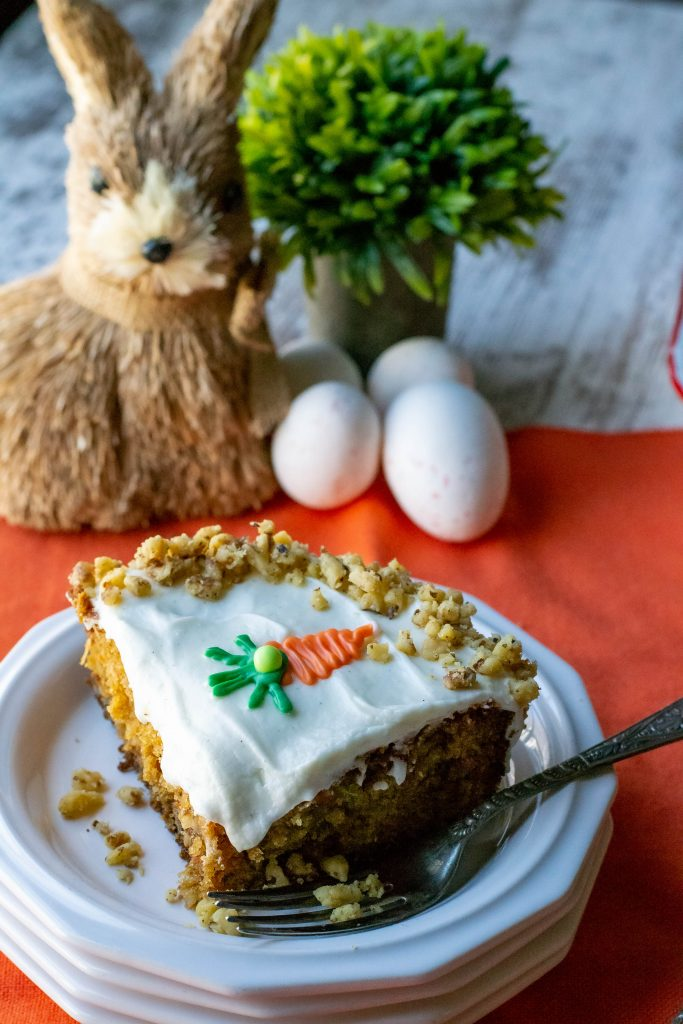 Carrot Walnut Pineapple Cake