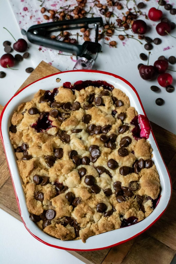 Black Forest Cherry Cobbler