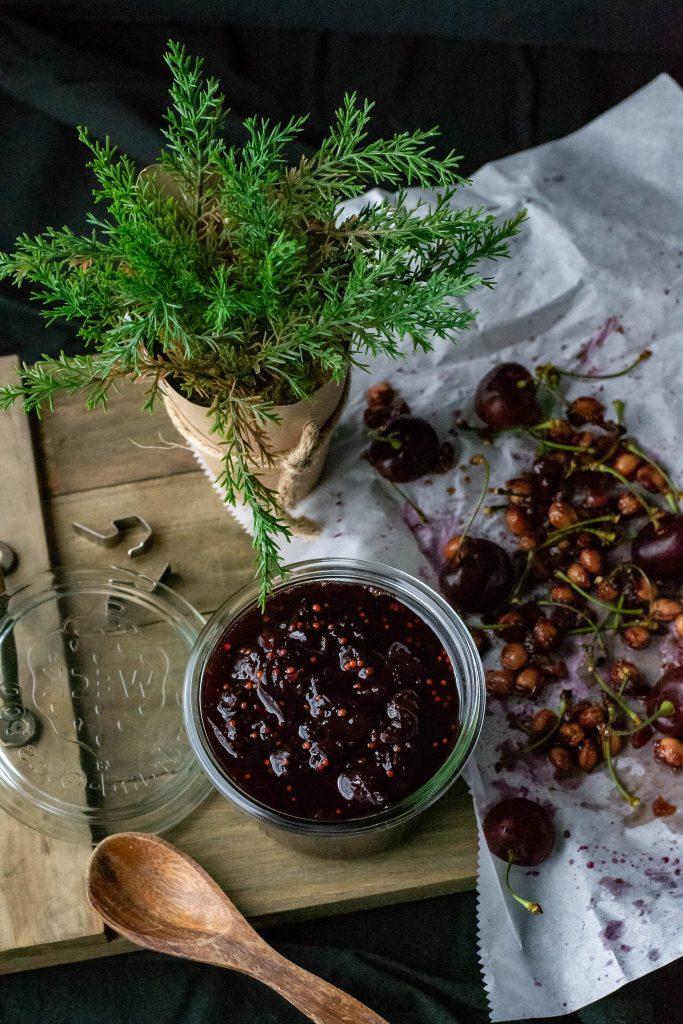 Sweet Savory Cherry Chutney