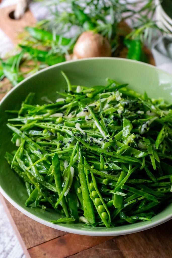 Fresh French Snow Pea Salad