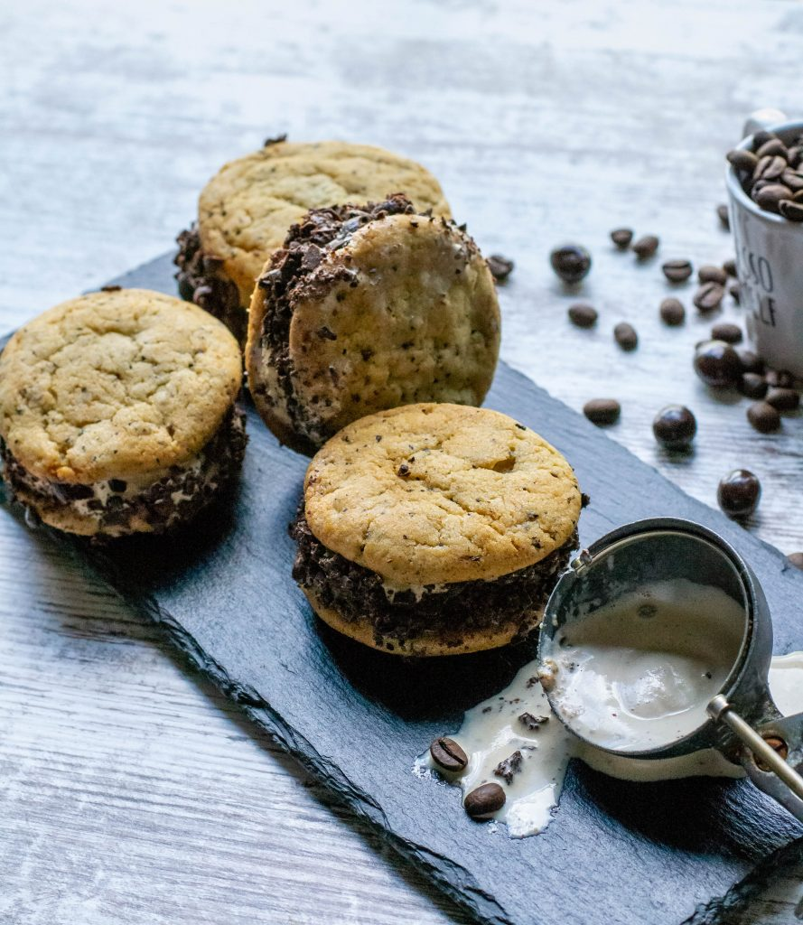 Espresso Ice Cream Sandwich Cookies