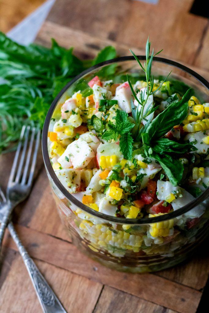 Summer Sweet Corn Crab Salad Recipe
