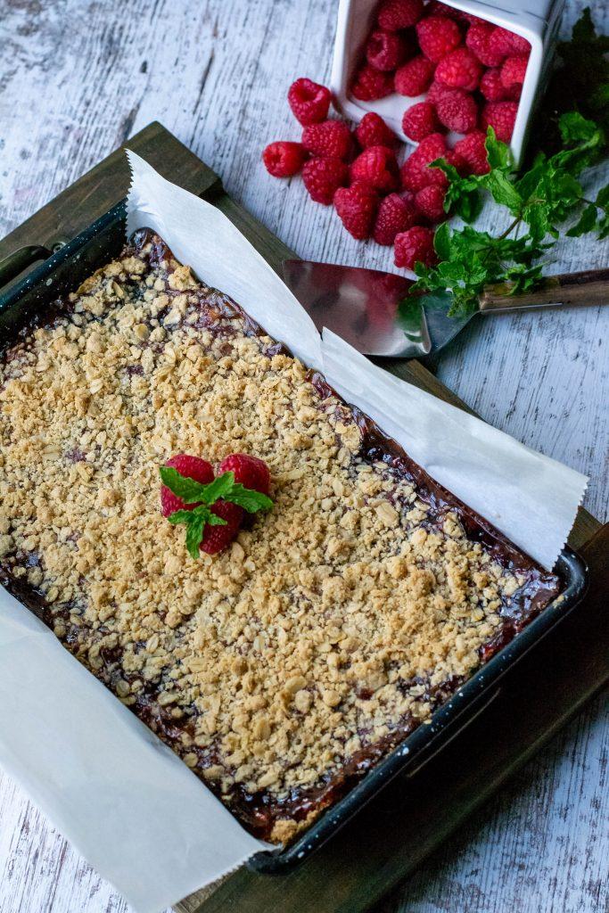 Gluten Free Raspberry Crisp Bars