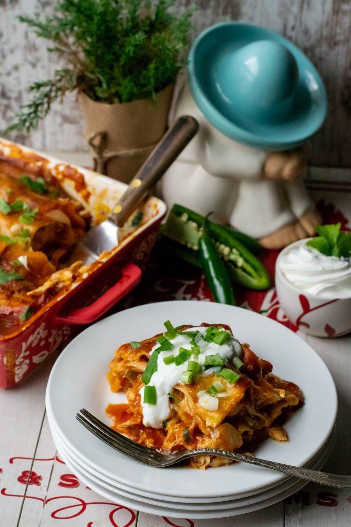 Chicken Enchilada Lasagna