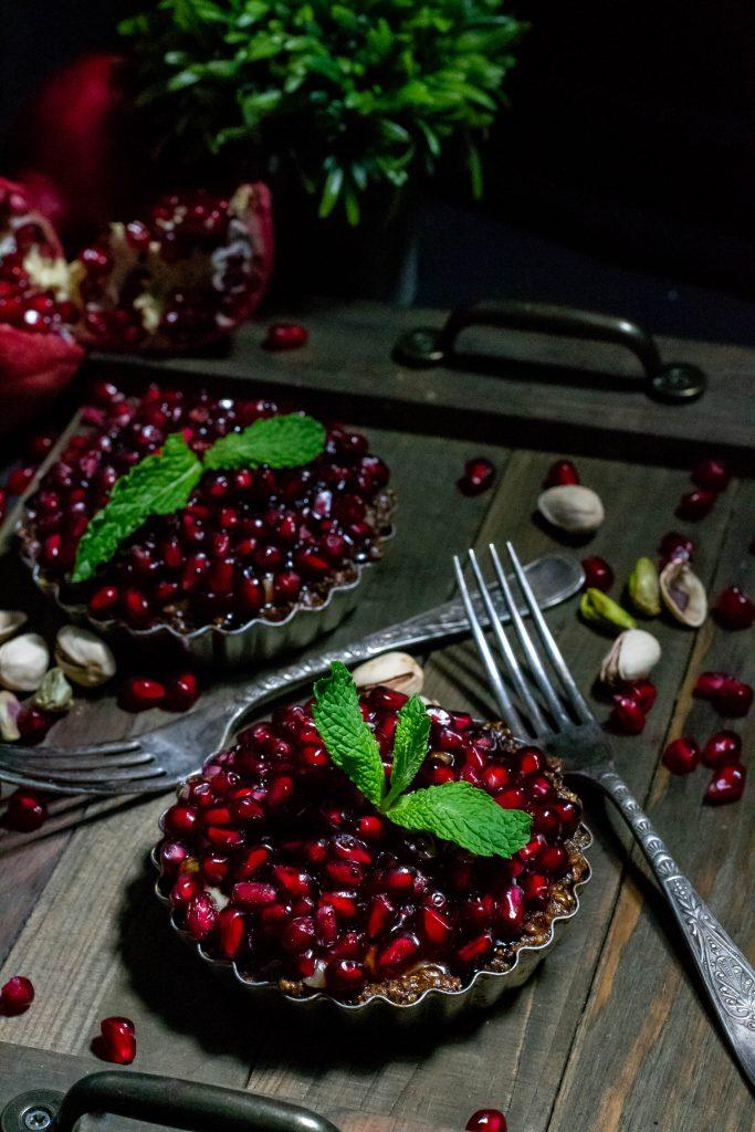 Pomegrante Pistachio Tarts-4
