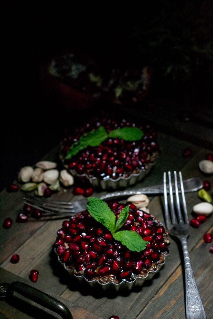 Pomegrante Pistachio Tarts-5