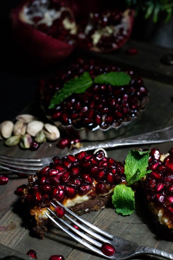 Pomegrante Pistachio Tarts-6