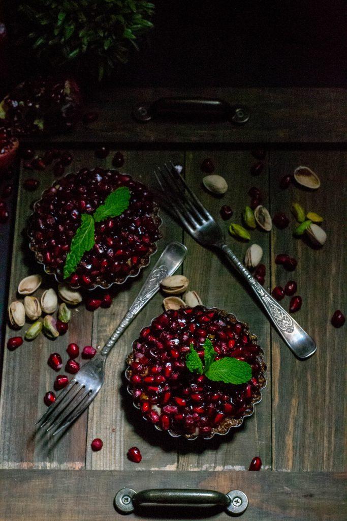 Pomegrante Pistachio Tarts-7